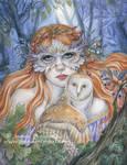 Owl Lady by JannaFairyArt