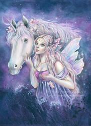 Purple Midnight by JannaFairyArt
