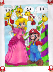 Mario and Peach by kcjedi89