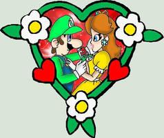 Daisy and Luigi Valentine by kcjedi89