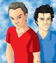 Stuart and Vince by kalamitykat