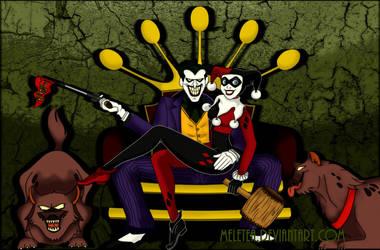 The Joker and Harley Quinn by Meletea