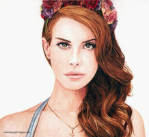 Lana Del Rey [Watercolour] by yaokhuan