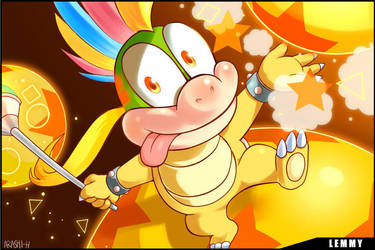 Koopalings Lemmy Koopa by Arashi-H