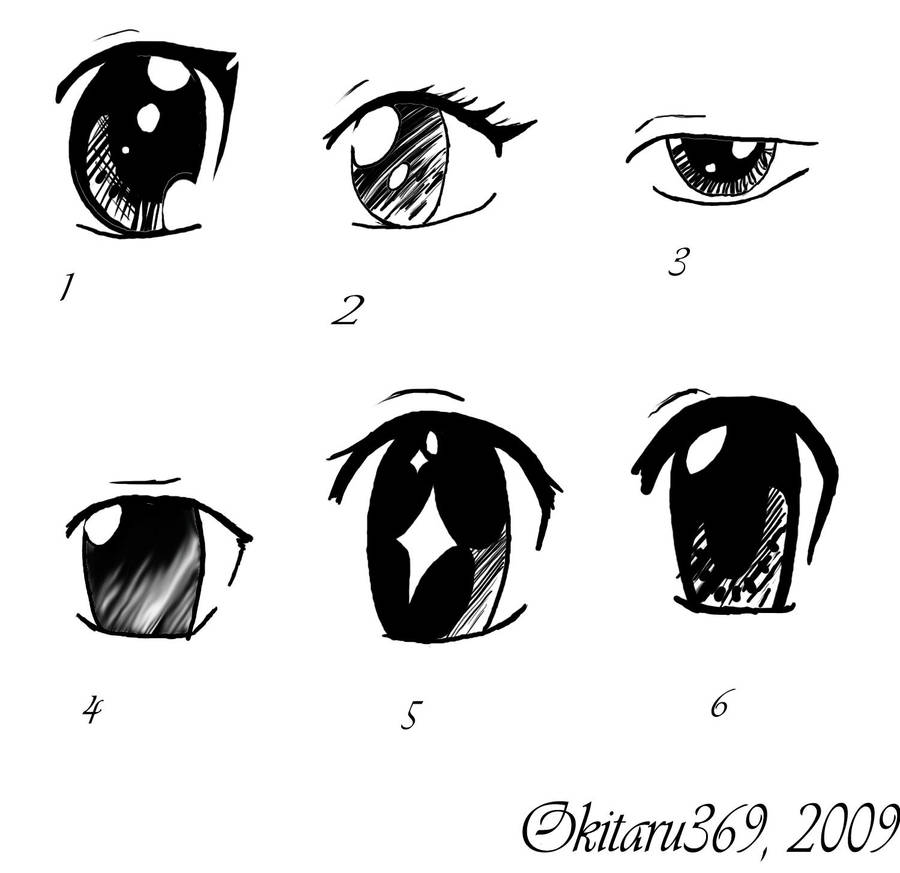 6 Easy Ways I Draw Eyes Bytaru369