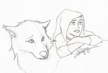 Bella and Jacob sketch by Loleia