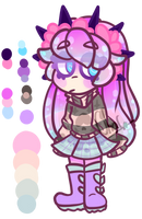 Pastel Goth Anemone :COMMISSION: by CharsWorld