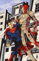 Iron Man Vs Superman (FCBD 2013) by A-Rob
