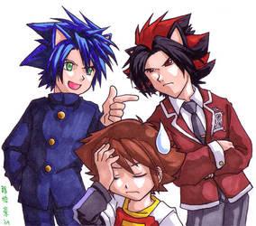 SchoolBattle -Sonic vs Shadow by songosai