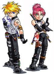 Junior Anbu Naruto and Sakura by songosai