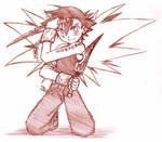 Zapdos Demon Ash - sketch by songosai