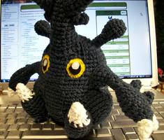 Heracross Crochet Plush by First-Mate-Kate