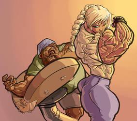 When arm wrestling Kira, better be insured by RedSilverArtist