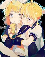 Rin y Len Kagamine VOCALOID by argaten166