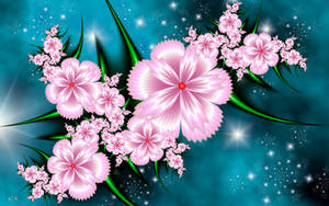 Silk Flowers on Starry Sky by LaraBLN