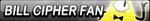 Bill Cipher Fan Button by EclipsaButterfly