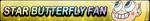 Star Butterfly XL Fan Button by EclipsaButterfly