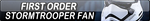 First Order Stormtrooper Fan Button by EclipsaButterfly