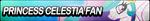 Princess Celestia Fan Button by EclipsaButterfly