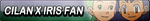 Cilan X Iris Fan Button by EclipsaButterfly
