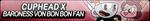 Cuphead x Baroness Von Bon Bon Fan Button by EclipsaButterfly