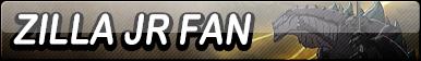 Zilla Jr Fan Button by EclipsaButterfly