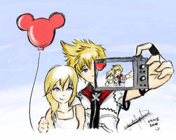 KH: Namine and Roxas by daniparra