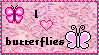 I :heart: butterflies stamp by libarychick8