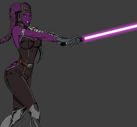 Twilek Dark Jedi-Colored by Cindrollic