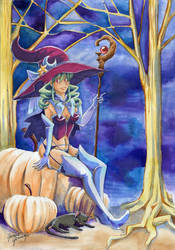 Sexy Halloween Girl by glance-reviver