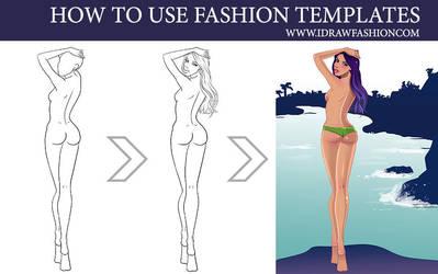How to use fashion templates 2 by idrawfashion