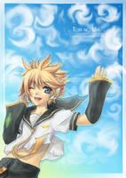 Vocaloid Len . Tori no Uta . by Yume-Rie