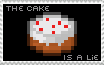 The Cake Is A Lie Stamp by PyramidKing