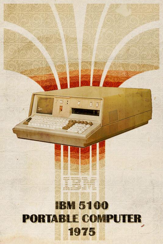 IBM 5100 - Retro Poster by Euskera