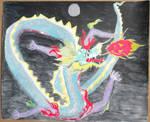 Dragon chasing Dragon fruit by Shinto-Cetra