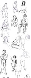 Sketches from acting class '12 by Arixa