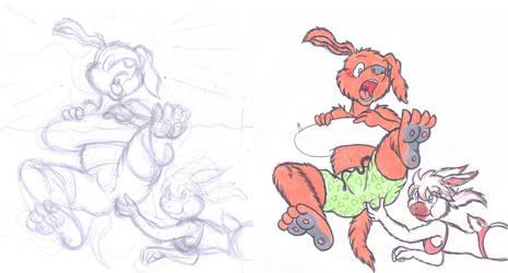 HEEYYYYYYYYY Breihz! XD Sketch by DingoPatagonico
