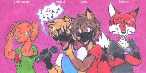 Main Four Karaoke Competition XD by DingoPatagonico