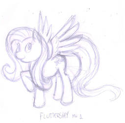 First try to draw Fluttershy by DingoPatagonico