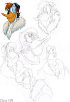 OLD-Launchpad McQuack Sketches by PumpkinHipHop