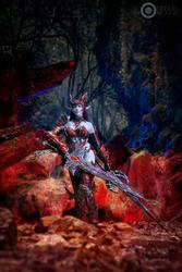 Blade Dancer! Dark Elf in draconic- Lineage II 4 by dani-foca