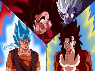 Cumber vs Vegetto Blue And Super Saiyan Four by LeonSR