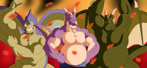 Trio Dragon by LeonSR