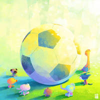 everybody is watching soccer by minayuyu