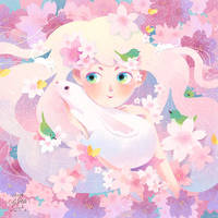 Cherry blossoms fairy by minayuyu