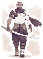 Ryu Hayabusa sketch by Xelgot