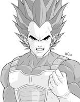Vegeta sketch by Xelgot