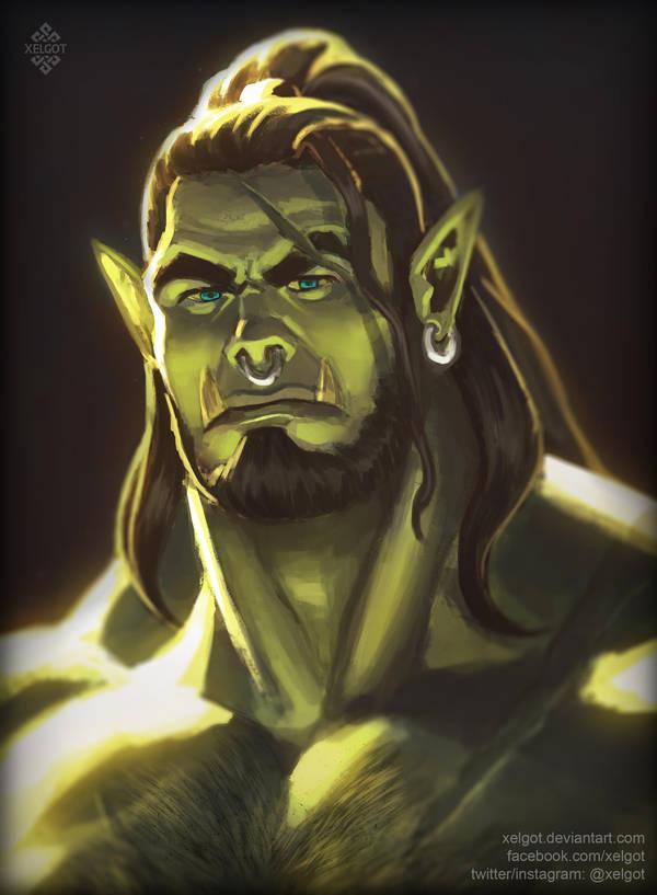 Orc Portrait by Xelgot