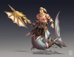 Merman warrior by Xelgot