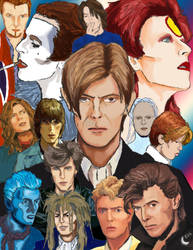 ChangesBowie Poster by silvermoon822